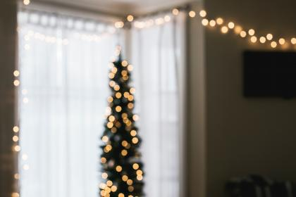 house, interior, design, christmas, lights, window, living, room, curtain