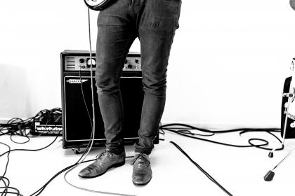 black and white, shoe, footwear, concert, effects, sound, electronic, cord, music, stage, amplifier