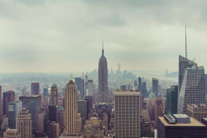 New York, city, skyline, Empire State, buildings, high rises, towers, rooftops, architecture, USA, United States, America