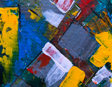 abstract,   painting,   art,   creative,   design,   artist,   canvas,   acrylic,   close up,   gray,   moody,   muted,   colored,   red,   oil,   paint,   texture,  yellow,  white,  blue