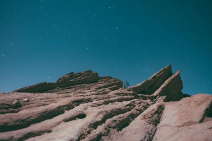 sky, night, hill, edge, universe, trek, trekking, outdoors, adventure, stars, night, rock