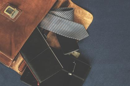 free photo of leather  bag