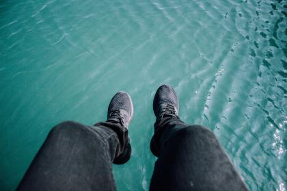 free photo of blue  water