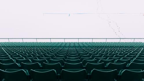 chairs, stadium, empty, rows, public, perspective, green, seats