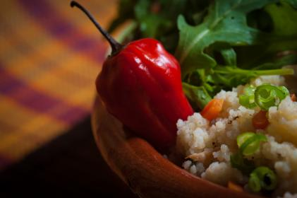 bell pepper, ingredient, spices, rice, green, vegetable, food