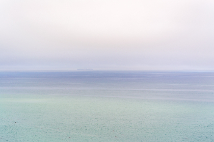 pastel, ocean, fog, sky, nature, outdoors, sea, water