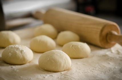 dough, floor, baking, kitchen, chef, roller