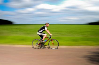 cyclist, bike, bicycle, riding, road, exercise, fitness