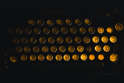 close-up,  vintage,  typewriter,  keys,  buttons,  technology,  gold,  black,  round,  letters,  numbers