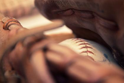 baseball glove, mitt