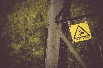 danger,  death,  sign,  yellow,  electricity,  pylon,  steel,  frame,  engineer,  tech