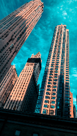 new york,  blue sky,  city, architecture, building, skyscraper, dramatic, usa