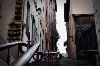 urban,  lyon,  stairs,  old, staircase, alley, pathway, path