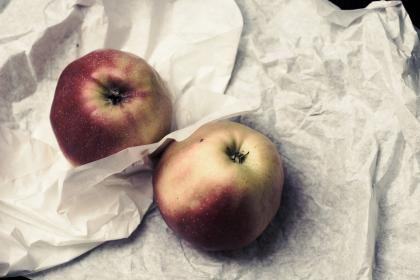 apples, fruits, food, healthy, paper