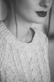 people, woman, girl, lipstick, makeup, beauty, black and white