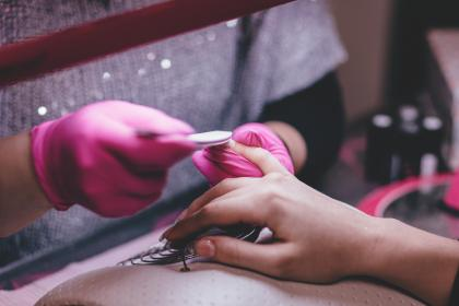 people, hands, manicure, cuticle, clean, salon, nail