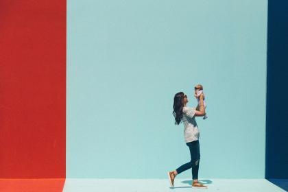 people, woman, mother, child, kid, baby, toddler, love, happy, wall, outdoor, walk