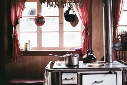 kitchen, stove, pots, cooking