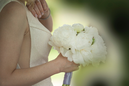 woman,  flowers,  wedding,  day,  dress,  white,  hold,  happy,  romantic,  love,  summer