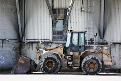 construction, truck, excavator, caterpillar, industrial, wheels, tires, ladder, building, wall, concrete, beams