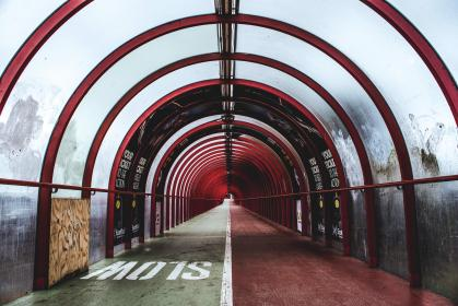 tunnel, path, slow, architecture, city, urban