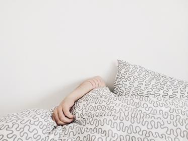 free photo of hand  bed
