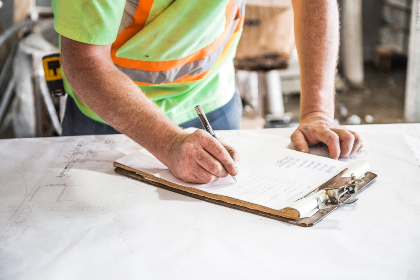 construction,  plans,  man,  person,  worker,  industrial,  building,  planning,  blueprint,  notepad,  writing,  clipboard
