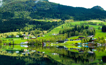 norway,  amazing,  lake,  sky,  clouds,  Mountains,  Houses ,  Colorful ,  summer,  travel,  roadtrip,  Landscape