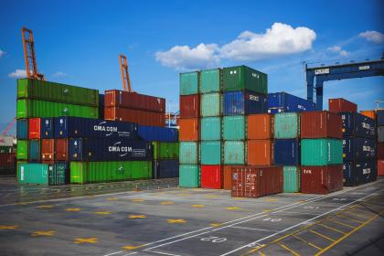 still, items, things, crates, stack, pile, dock, pier, cargo, unloading, squares, steel, lines, patterns, shapes, industrial