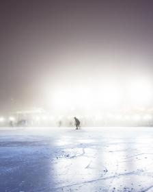 people, cold, ice, weather, skate, sport, hobby, fog, white, blade