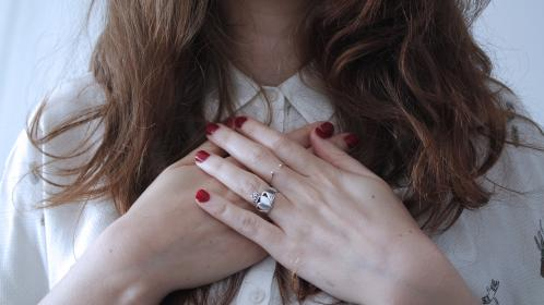 free photo of hands  chest