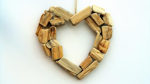 arts, crafts, design, wood, heart, ornament, decorate