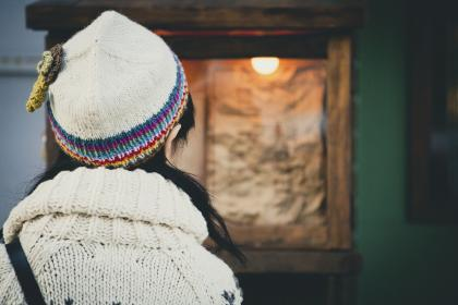 people, woman, bonnet, sweater, cold, weather