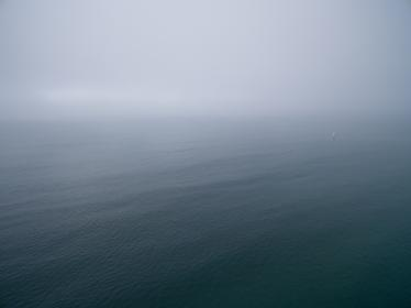sea, ocean, water, wave, nature, fog