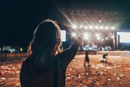 bluesfest,  festival,  music festival,  girl,  lights,  stage,  silhouette, people, music, celebration, party, stage, outdoors, night, evening