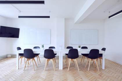 interior, design, tables, chairs, white, wall, television, technology, electronics, board, meeting, room, office