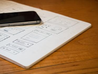 mockup, design, creative, notebook, drawings, iphone, mobile, technology, objects, office, desk, business
