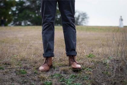 boots, shoes, pants, folded, fashion, field