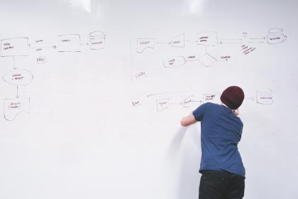 flowchart, whiteboard, office, business, planning, guy, man, people, working, startup, meeting