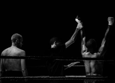 kickboxing, fighting, fighters, sports, champion, ring, ropes, black and white, athletes, gym, fitness