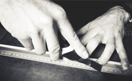 free photo of hands  xacto knife
