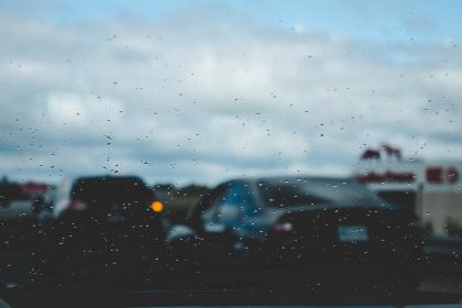 car, drive, glass, window, raindrops, wet, traffic, raining, travel, trip