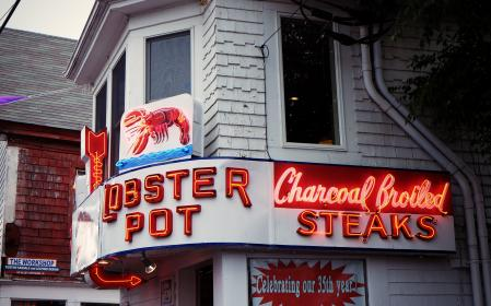 lobster, seafood, restaurant, neon, signs, lighting, eating, steaks, dining
