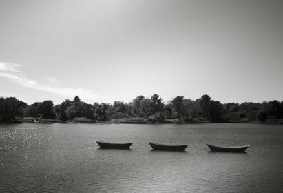 boats, water, lake, trees, sky, nature, outdoors