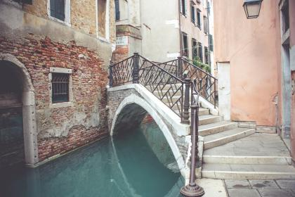 building, structure, architecture, window, alley, steel, stairs, stairway, water, canal, drainage