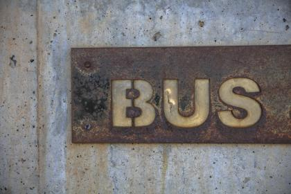 wall, metal, steel, bus, street, naming