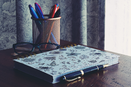 free photo of notebook   books