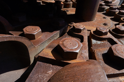 rusted,  bolts,  close up,  equipment,  iron,  metal,  machine,  old,  abstract,  background,  industrial,  design,  fastener,  large