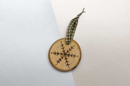 wood,  holiday,  ornament,  christmas,  handmade,  etched,  decoration,  festive,  flat lay,  object,  close up,  top,  pastel,  creative,  design,  snowflake,  plaid,  rustic