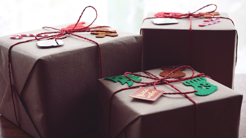 christmas,  gifts, wrapped, presents, holiday, festive, merry, string, tags, giving, happiness, close up, celebration, objects